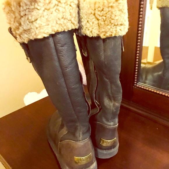 UGG Shoes   Ugg Knee High Leather Boot